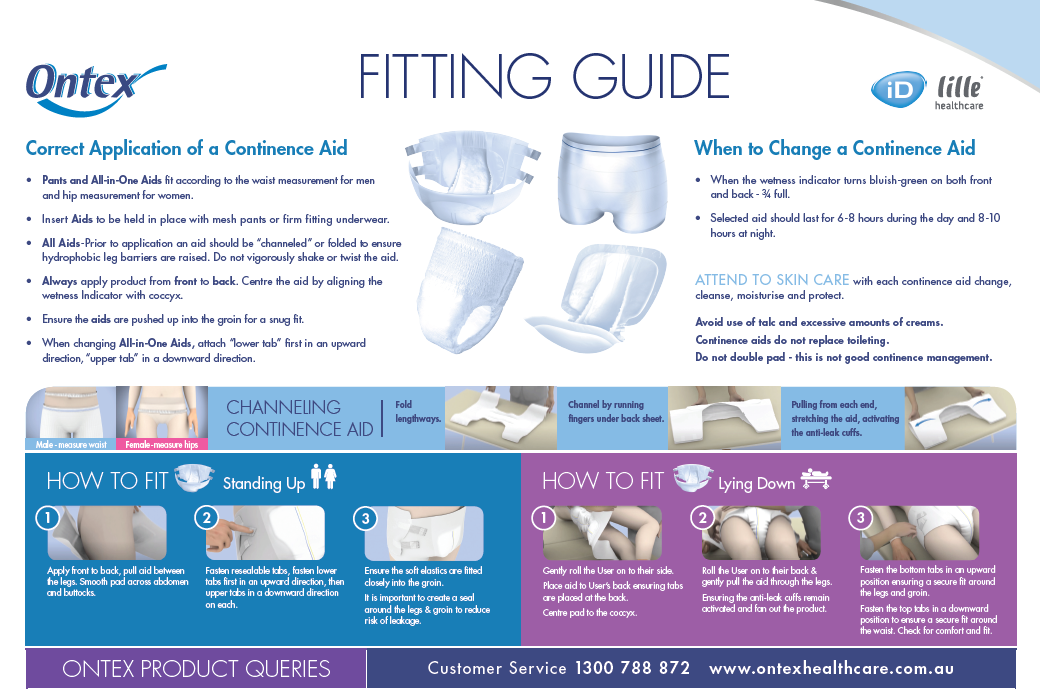 Incontinence Fitting Guide